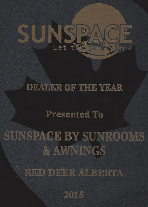 sunspace dealer of the year award 2015