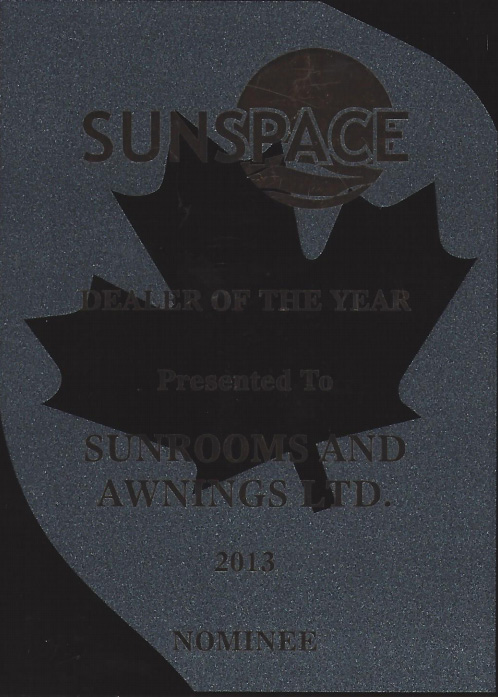 sunspace dealer of the year award nominee 2013