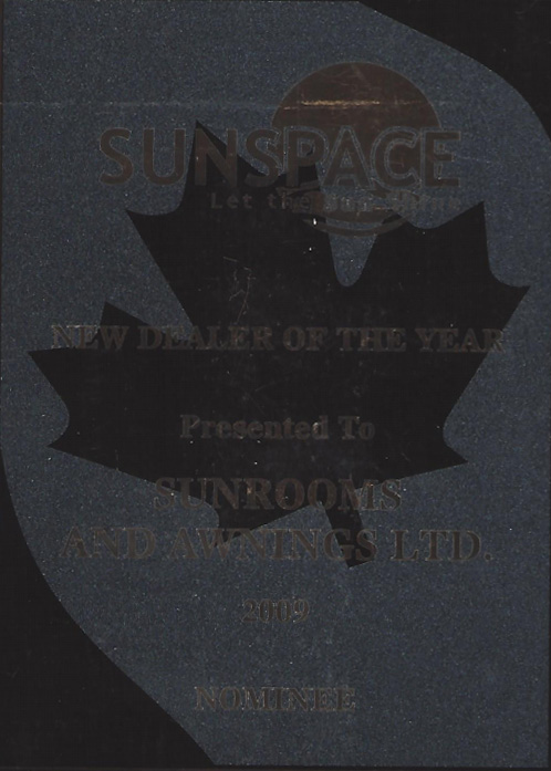 sunspace dealer of the year award 2099