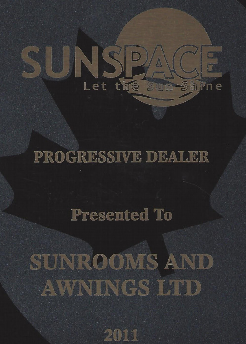 sunspace most progressive dealer 2011