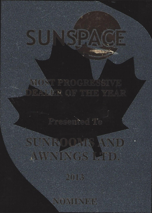 sunspace most progressive dealer 2013