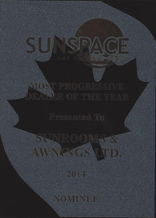 sunspace most progressive dealer nominee 2014