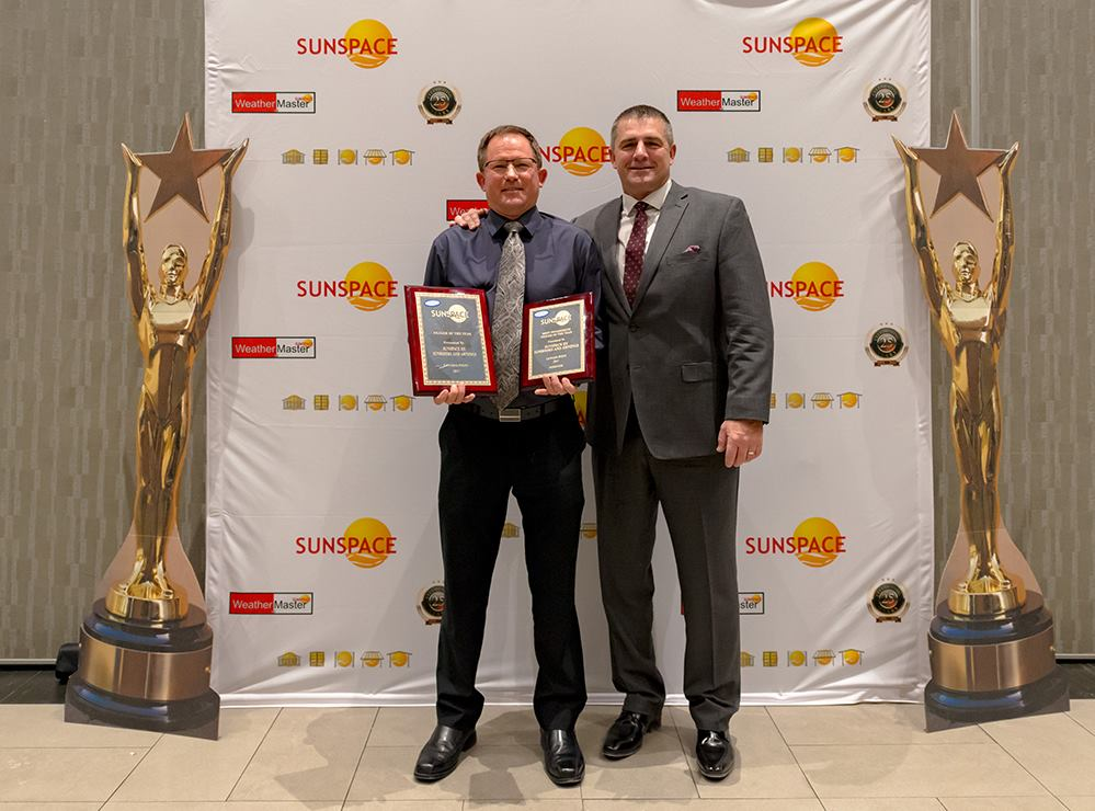 sunspace dealer of the year award 2017
