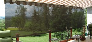 Drop Screen Awning Red Deer