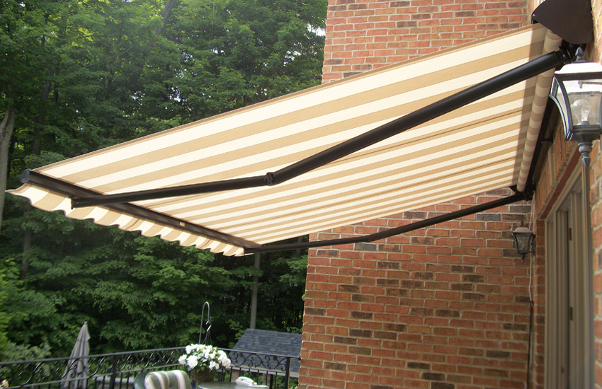 awning over second floor balcony