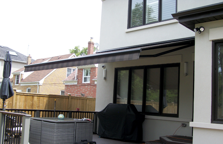 awning over a deck
