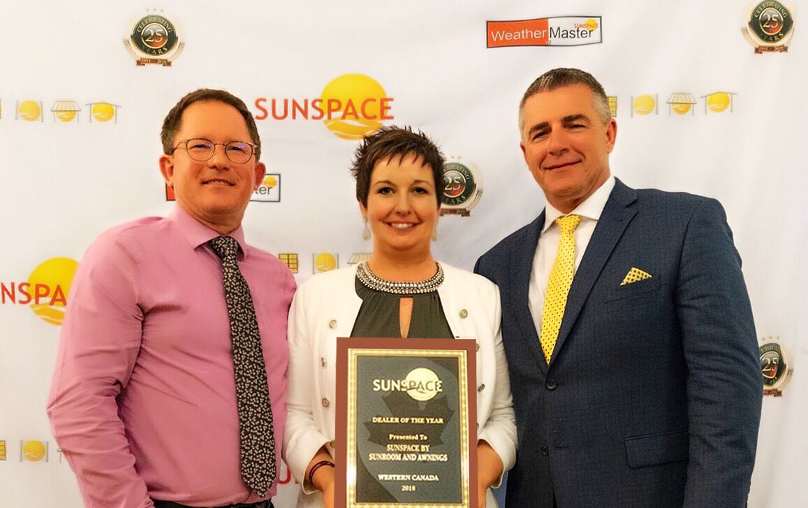 sunspace dealer of the year award 2019